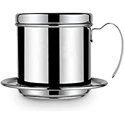 Yesbaby Home Office Stainless Steel Coffee Drip Pot (silver)