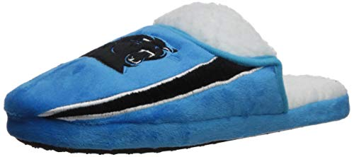 (FOCO NFL Carolina Panthers Team Logo Sherpa Slippers, Team Color, Large (11-12))