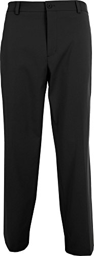 Slazenger Men's Tech Flat Front Golf Pants, (Black, 34 x 34) by Slazenger