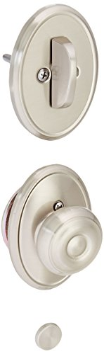 Schlage Lock Company F94GEO619WKF Georgian Knob Dummy Interior Pack with Deadbolt Cover Plate, Satin Nickel