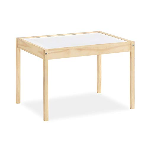 Baby Relax Hunter 3-Piece Kiddy Table & Chair, Natural/White Table Set