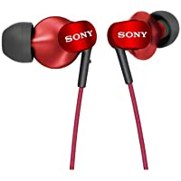 Sony MDR-EX220LP/R Red | 13.5mm Drivers In-Ear Stereo Receiver (Japanese Import)