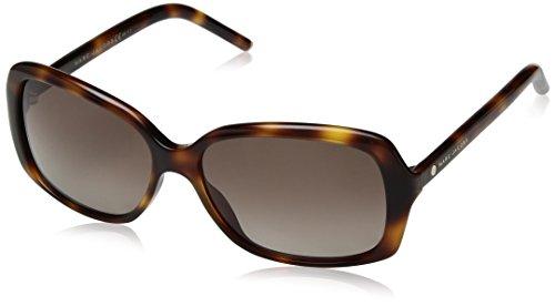 (Marc Jacobs Women's Marc67s Square Sunglasses, Havana/Brown Gradient Polarized, 57 mm)