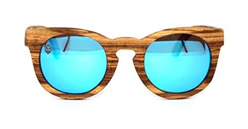Óculos de Sol de Madeira Franzese Blue, MafiawooD