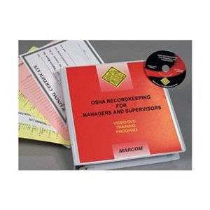 Marcom Group V0000159SO OSHA Recordkeeping for Managers, DVD Training, Spanish