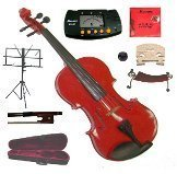 Merano 15'' Red Viola with Case and Bow+Extra Set of Strings, Extra Bridge, Shoulder Rest, Rosin, Metro Tuner, Black Music Stand, Mute