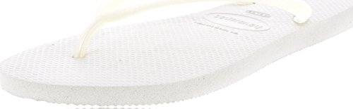 Havaianas Womens Slim Fashion White Flip Flops Sandals Shoes SZ: 9/10 by Havaianas
