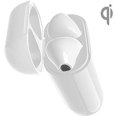 Estuche de Cargador inalámbrico Reemplazo para Apple Airpods, Kits de Carga con 450mAh batería incorporada, Tamaño Original Auriculares Bluetooth Airpods ...