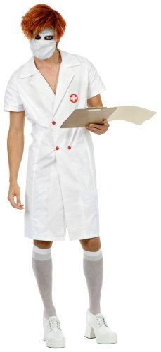 A And E Nurse Costume (Adult Twisted Nurse Joker Costume)