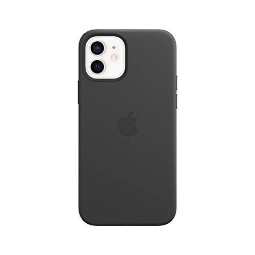 Funda De Piel Apple Magsafe Para iPhone 12  12 Pro Negro