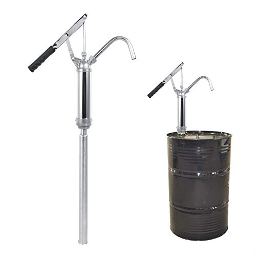 Barrel Pumps, Manual Lever Action Barrel 55 Gallon Drum Fuel Transfer Pump with Adjustable Suction Tube and Removable Nozzle for Diesel Kerosene Engine Oil Hydraulic Oil