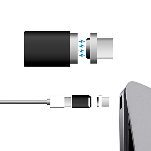 USB C Magnetic Adapter for MacBook Pro,Coopsion Macbook Pro 85W Magnetic USB C Adapter Fast Charging USB Type C to USB C Charger Converter for USB C Device(Black) by coopsion