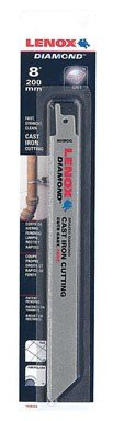 Lenox Tools 10833800RDG Diamond Grit Reciprocating Saw Blade, 8-Inch, 1-Pack (Diamond Saw Reciprocating Blades)