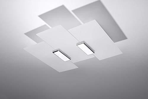 Sollux Lighting Fabiano Plafond Chrome Wei/ß Glas