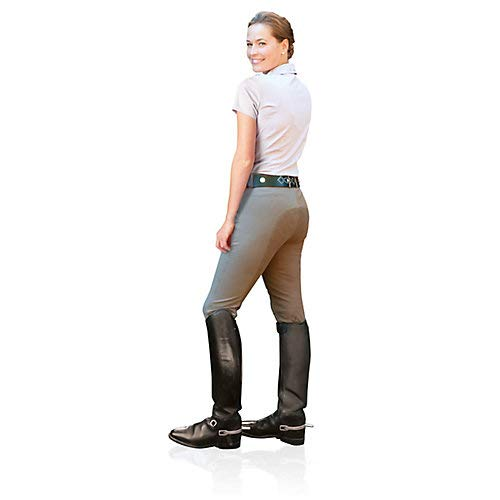 Ovation Women's Celebrity Slim Secret Full Seat Euroweave Dx Breeches White 32 L US