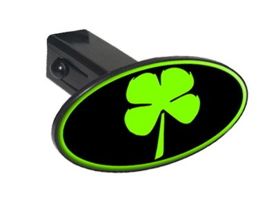 Four Leaf Clover Irish Luck Oval Tow Trailer Hitch Cover Plug Insert 1 1/4 inch (1.25