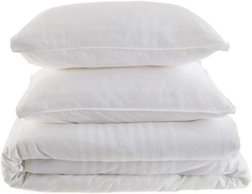 Calvin Klein Home Wythe Comforter Set, King, White (Renewed)