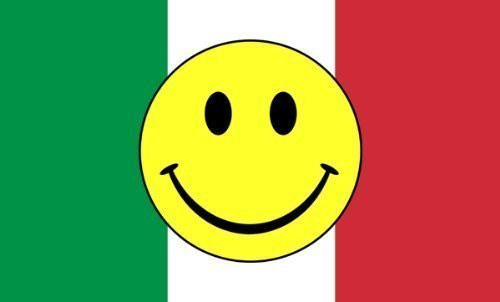 5ft x 3ft (150 x 90 cm) Italy Italian Smiley Face 100% Polyester Material Flag by Flag Co by Flag