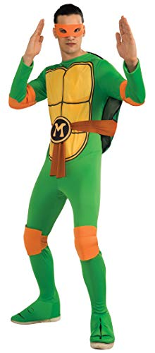 Nickelodeon Ninja Turtles Adult Michelangelo and Accessories, Green, Standard Costume]()