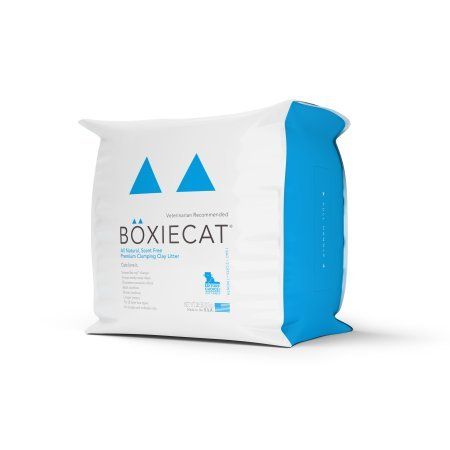 Boxiecat 28 Lb Scent-Free Premium Clumping Clay Cat Litter, 3 Pack