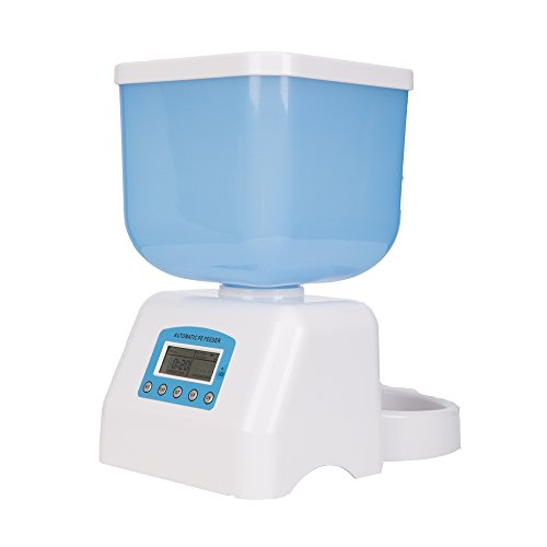 DeeiPet 3-Meal Automatic Pet Feeding Electric Dispenser For Small&Medium Dogs,Cats and Rabbit,Dual Power supply System,1-12 Portions For Every Meal (Capacity 5L)