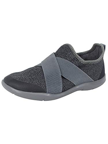 (Crocs Womens Swiftwater Cross-Strap Static Shoes, Slate Grey, US)