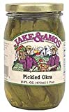 Jake & Amos Pickled Okra, 16 Ounce - 3 Pack