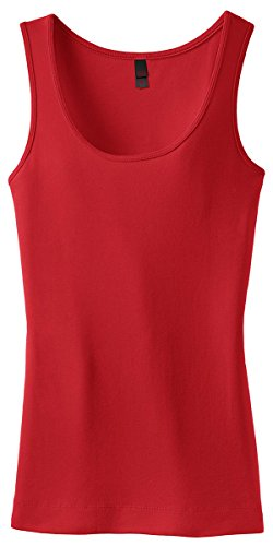 District Threads Junior Ladies Perfect Fit 1x1 Tank - Cherry Red DT235 M