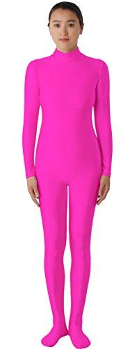 JustinCostume Lycra Spandex Zentai Unitard Catsuit, Pink, Large (Body Suit Costume)