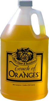 Touch of Oranges Hardwood Floor Cleaner and Reconditioner Gallon. Best Hardwood Floor, Wood Furniture Cleaner and Restorer with Natural Orange Oil.