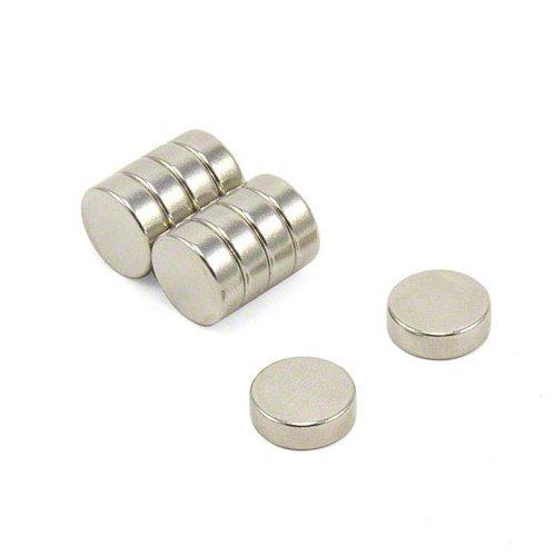 first4magnets F124-10 12 mm diámetro x 4 mm de grosor N42 imán de neodimio con 3 kg tirador (10 unidades)
