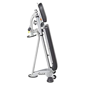 HOIST Fitness HF-5167 Vertical Folding, Adjustable, 7 Position, Flat / Incline / Decline Workout Bench – Platinum