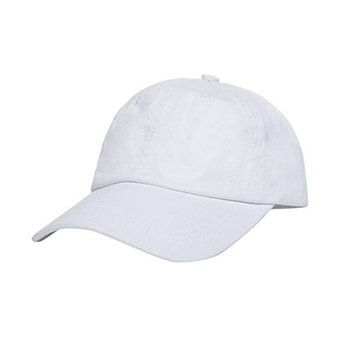 Fashion Baseball Cap 2 Pcs,Crytech Unisex Plain 100% Cotton Polo Style Dad Hat Classic Adjustable Low Profile Ballcap Trucker Hat for Women Men Sun Visor Sunhat Running Cycling Hiking Golf (White)