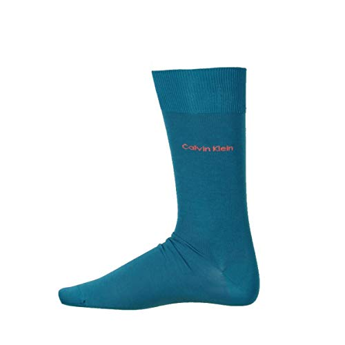 Calvin Klein Mens Egyptian Cotton Trouser Dress Socks Blue 7-12 by Calvin Klein