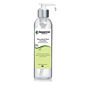 BEST FACIAL WASH for Men & Women - 8 OZ Detox Handcrafted Citrus Herb Face Wash Cleanser - Anti Aging & Acne Fighting Cleansers