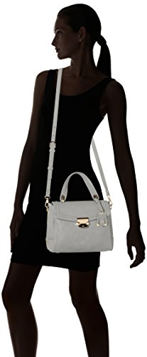 Liu Jo Damen S Top Handle Long Island Henkeltasche, 14x21x26 cm Grau (Inox)