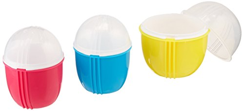 Zap Chef Microwave Egg Cooker Set, BPA-Free, 2 Small and 1 L