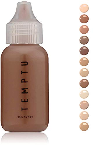 Temptu S/B Foundation: Natural Long Lasting Airbrush Foundation, Cappuccino, 1 Oz (Best Airbrush Makeup Kit For Personal Use)