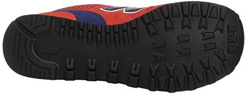 New Balance 574 Lifestyle Suede/Textile, Zapatillas De Gimnasia para Hombre Rosso (Red/Navy)