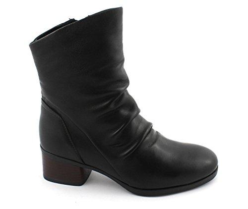 CAF NOIR HD204 black boot boots women zip leather heel 38 UO5Hq