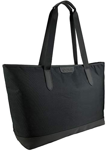 OVÉ Large Tote Bag for Women Fits 15.6 Inch Laptop Computer Black Ladies Work Tote Bag