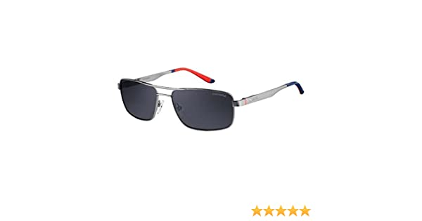 da6905acdff95 Amazon.com  Carrera 8011S R81 Shiny Matte Ruthenium 8011S Square Aviator  Sunglasses Polaris  Clothing