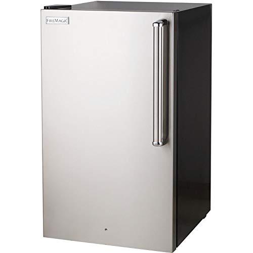 Fire Magic 20-inch 4.0 Cu. Ft. Premium Left Hinge Compact Refrigerator - Stainless Steel Door/Black Cabinet - 3598-dl (Magic Fire Refrigerator)