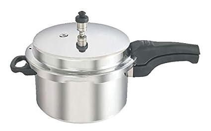 Kaviraj Aluminium 12 Ltrs. Pressure Cooker Induction Base  Silver