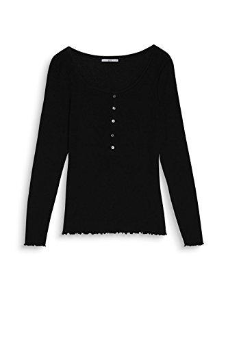 edc by Esprit, Camisa Manga Larga para Mujer Negro (Black 001)