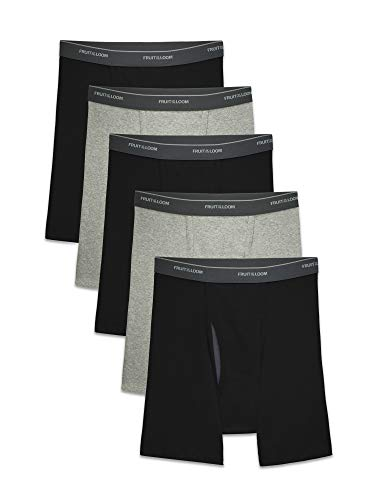Fruit of the Loom Men's CoolZone Boxer Briefs, Black/Gray, X-Large from Fruit of the Loom
