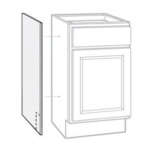 RSI HOME PRODUCTS SALES CBKAS2435-SW White Finish Base Cabinet End Panel (2 Pack), 24