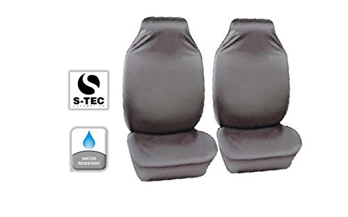 Civic Tipo R todos los años–Heavy Duty resistente al agua asiento delantero cubre Protectores de/1+ 1(Color Gris)