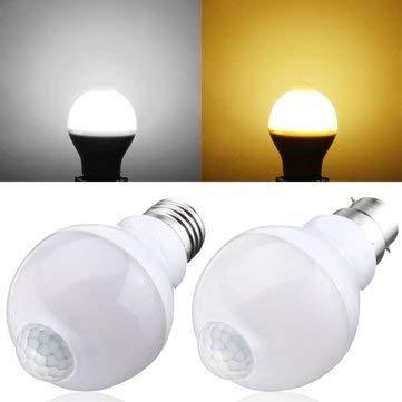 (Bumatech E27 Led Bulbs - E27 B22 5w Smd5730 10leds Infrared Motion Sensor + Light Control Induction Light Bulb Ac85-265v - Motion Sensor Light Bulb Outdoor)