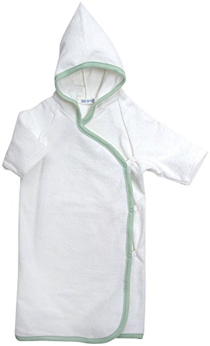 Under the Nile Bath Time Favorites Hooded Terry Kimono in Sage Trim (New Born to 6 -